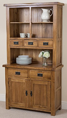 Cotswold Rustic Solid Oak Small Welsh Dresser,(1,000 x 453 x 1,896 cm)