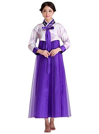 5d7cc06418 Amazon.com: CRB Fashion Womens Ladies Traditional Kids Korean Hanbok Outfit  Dress Costume: Clothing
