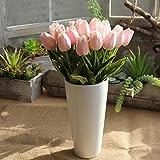 YJYdada Artificial Fake Flowers Tulip Bouquet Floral Wedding Bouquet Party Home Decor (Pink)