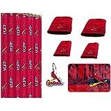 MLB St Louis Cardinals 18 Piece Bath Ensemble Includes 1 Shower Curtain