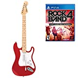 guitar hero fender stratocaster - Mad Catz Rock Band 4 Wireless Fender Stratocaster Guitar Controller and Software Bundle for PlayStation 4 - Red
