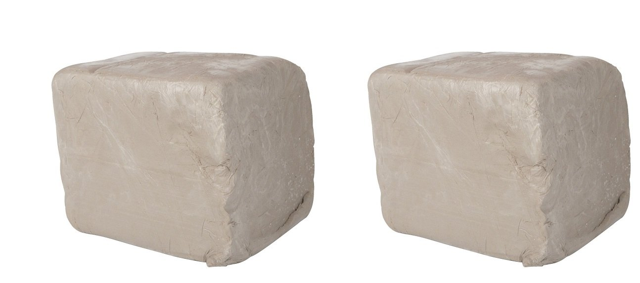 Amaco 45047J High-Fire Moist Stoneware Clay, #38 White (Pack of 2)