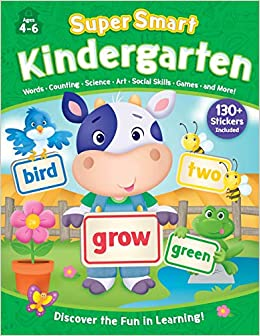 Super Smart Workbook Kindergarten Covers 8 Essential Subjects And Makes Learning Fun Includes 130 Stickers Rainstorm Publishing Kidsbooks Publishing 9781628857481 Amazon Com Books