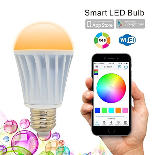 iLampens Flux WiFi Smart LED Light Bulb – Smartphone Controlled Dimmable Multicolored Changing Lights Bulb