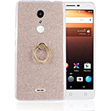 Alcatel A3 XL Case,Gift_Source [Ring Holder Kickstand] Slim Thin Flexible Bling Glitter Sparkle TPU Rubber Gel Case Shock-Absorption Clear Soft Bumper Cover Skin for Alcatel A3 XL (6.0 inch) [Gold]