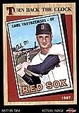 1987 Topps # 314 Turn Back The Clock Carl Yastrzemski Boston Red Sox (Baseball Card) Dean's Cards 8 - NM/MT Red Sox