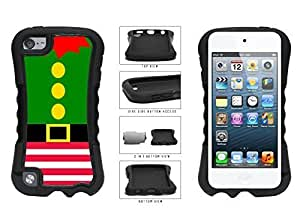 Cute Christmas Elf Suit 2-Piece Dual Layer Phone Case Back Cover Apple iPod Touch 5th Generation