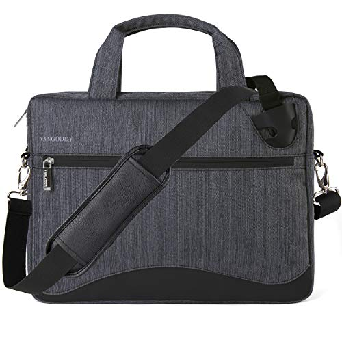 VanGoddy Slim Gray Anti-Theft 17 17.3 inch Laptop Messenger Bag Fit for Dell G3 G7 17 Gaming, Inspiron 17 5000 7000 Series, Precision, Alienware m17