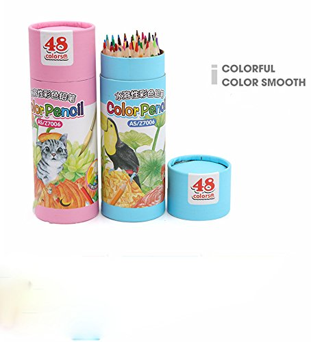48-color Colored Pencils/ Drawing Pencils for Artist Sketch/Coloring Book(Not Included) (blue)