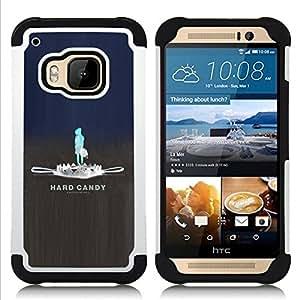 BullDog Case - FOR/HTC ONE M9 / - / har candy trap sad emo /- H??brido Heavy Duty caja del tel??fono protector din??mico - silicona suave