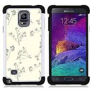 "Hypernova Híbrido Heavy Duty armadura cubierta silicona prueba golpes Funda caso resistente Para Samsung Galaxy Note 4 IV / SM-N910 [Beige minimalista naturaleza Verano""]"