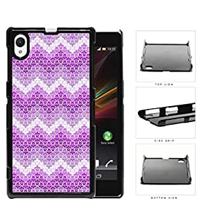 Mini Turtles In Chevron Pattern Pink Hard Plastic Snap On Cell Phone Case Sony Xperia Z1