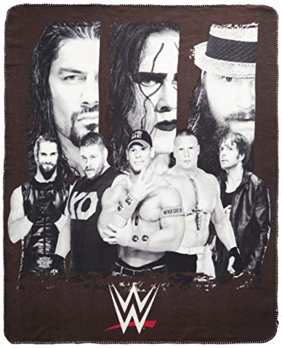Silver Buffalo WE0621 WWE All Stars Fleece Throw Blanket, 50 in. x 60 in.