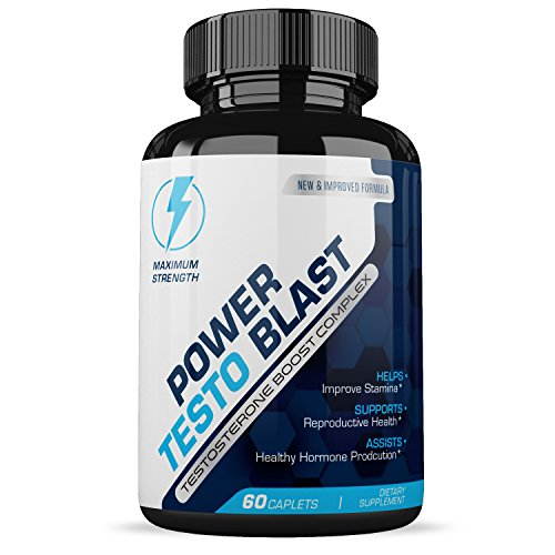 Power Testo Blast- Testosterone Boost Complex- Reproductive Health- Assists Heathy Hormone Production - Power Booster Test