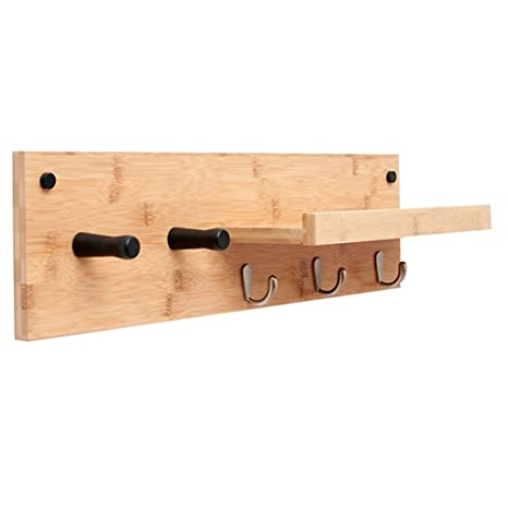 Amazon.com: Perchero de pared para dormitorio, estante de ...