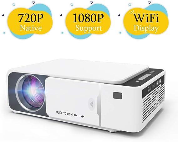 Techstick Proyector WiFi nativo 720P mini proyector de vídeo HD ...