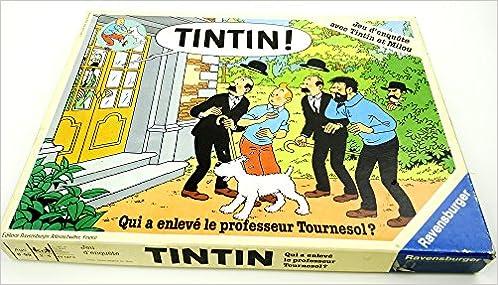1987 RAVENSBURGER TINTIN Qui a enlevé le Professeur Tournesol?GAME JEU FRENCH