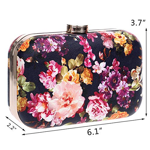 Party Clutch Bag Handbag Wedding Handbag Cocktail Flower Leather Peony Faux IBELLA Shoulder Purse 2 Evening npXxv