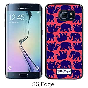 Beautiful Designed Case With Lilly Pulitzer 17 Black For Samsung Galaxy S6 Edge Phone Case