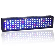 Marshydro Dimmable 300W LED Aquarium Light Fixure lighting Full Spectrum For Freshwater and Saltwater Fish Coral Tank Blue and White LPS/SPS