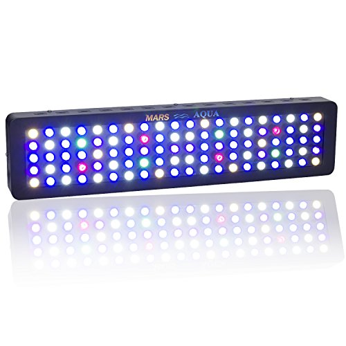 MARS AQUA 300W Led Aquarium Light Full Spectrum Reef Light Led Saltwater Aquarium Lighting for Coral Fish Tank Blue and White LPS/SPS (MarsAqua Dimmable 300W)