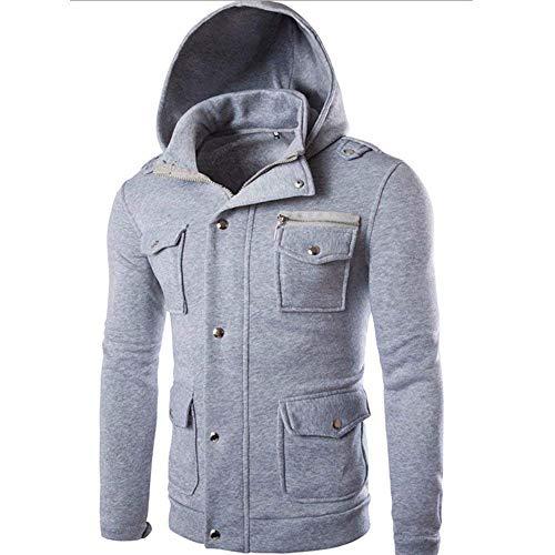 Manches À Capuche Grau Longues Bag Vêtements Pour Wrap Mix Hommes Sweat qFAF0Z