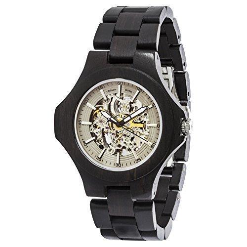 Unique Automatic Mechanical Transparent Blackwood Wooden Watch Elite Wood Watch - Wood Transparent Watch