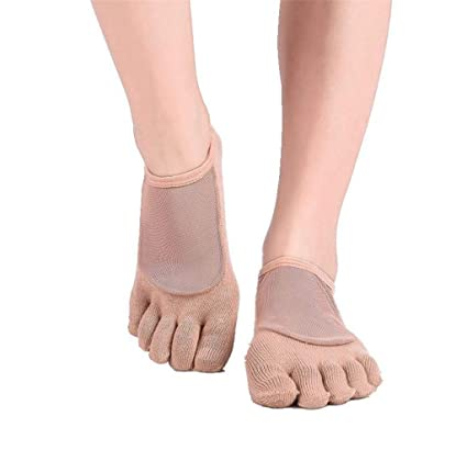 WGE Calcetines Yoga Calcetines Antideslizantes Calcetines ...
