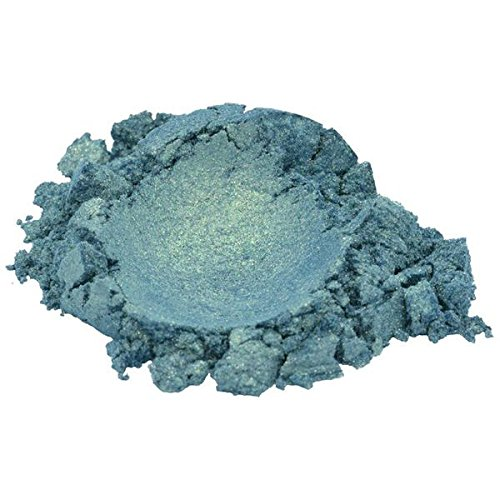 H&B Oils Center Co. Ocean Green/Steel Blue/Aquamarine/Turquoise Luxury Mica Colorant Pigment Powder by H&B OILS CENTER Cosmetic Grade Glitter Eyeshadow Effects for Soap Candle Nail Polish 1 oz