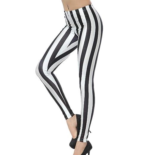 Scofeifei Raya de Mujer Leggings elásticos Deportes Yoga ...