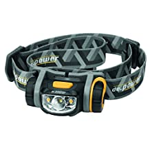 de.power LED headlamp DP-800-AA, cool white spot light 89 lumens (ANSI), 140 warm white ambient light, dimmable, 1xAA battery incl.