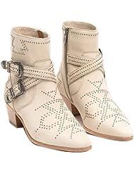FRYE Womens Ellen Deco Buckle Short Ankle Boot