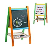Wondertoys Kids Standing Art Easel Board Blackboard Chalkboard Magnetic Alphabet Educational Toys Children