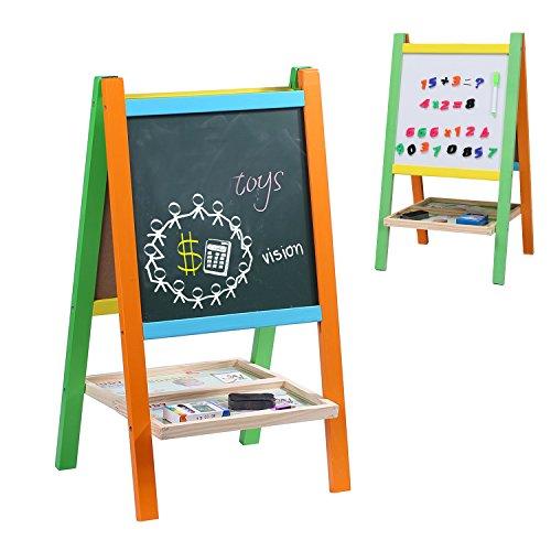 Buy now Wondertoys Kids Standing Art Easel Board with Blackboard and Chalkboard