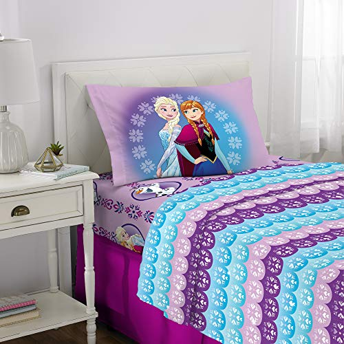 Disney Frozen Kids Bedding Soft Microfiber Sheet Set, Twin Size 3 Piece Pack (Disney Frozen Olaf Pillowcase)