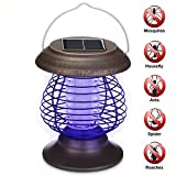 Solar Powered Portable Electric Mosquito Lamp Mosquito Killer Lamps Solar Bug Zapper Waterproof For Outdoor For Camping Traveling