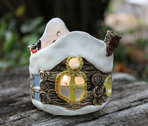 Country house ceramic candle lantern hand built, candleholder, Candle luminary,tea light holder, ceramic luminary, Christmas gift