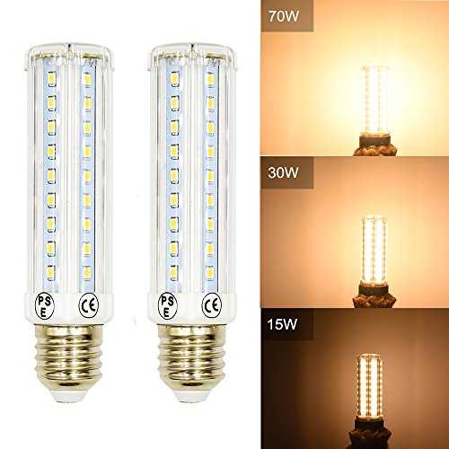 10W T10 Tubular LED Corn Light Bulb Luxvista 3 Way LED Dimmable Medium Screw Base E26 Reading Lamp Piano Lamp 70W/35W/15W Incandescent Replacement Lamp, Warm White 2800K (2-pack) (Lamp Bulb Bankers)