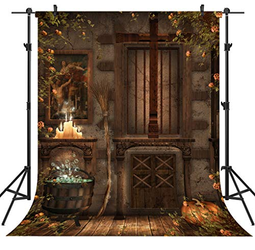OUYIDA Halloween Pumpkin Theme 6X9FT Pictorial Cloth Seamless Customized Photography Backdrop Background Studio Prop TP62