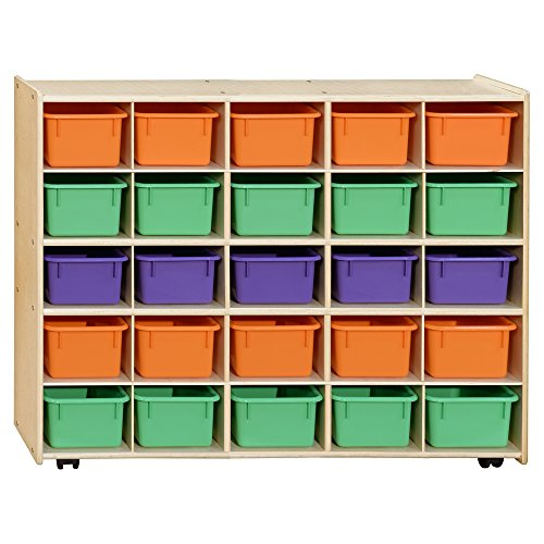Contender C16003APF-C5 (COO2Z) Mobile 25 Tray Storage with Assorted Pastel Trays -Assembled with Casters ()