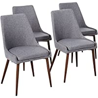 Poly and Bark Ethen Dining Chair in Grey (Set of 4)