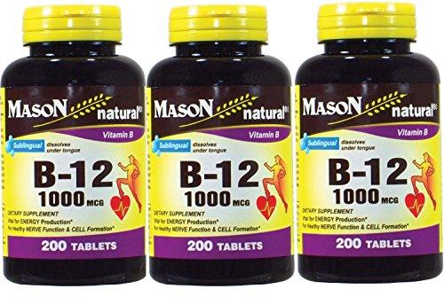 Mason Vitamins Sublingual Cyanocobalamin 200 Count product image
