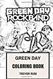 Green Day Coloring Book: American Punk Rock Pioneers Billie Joe and Mike Dirnt Inspired Adult Coloring Book (Coloring Book for Adults)