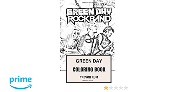 Books Musical Genres Green Day Coloring Book American Punk ...