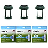 Thermacell MR-9L Outdoor Mosquito Repeller plus Lanterns (3) & 3 Mega Pack Refill Sets: 72 Mats & 30 Cartridges