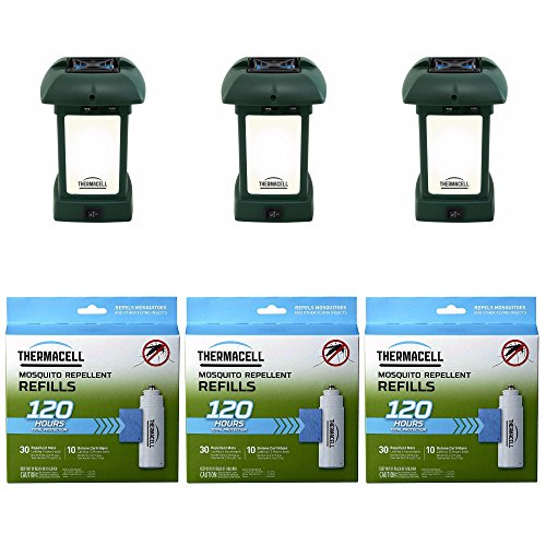Thermacell MR-9L Outdoor Mosquito Repeller plus Lanterns (3) & 3 Mega Pack Refill Sets: 72 Mats & 30 Cartridges by Thermacell (Image #3)
