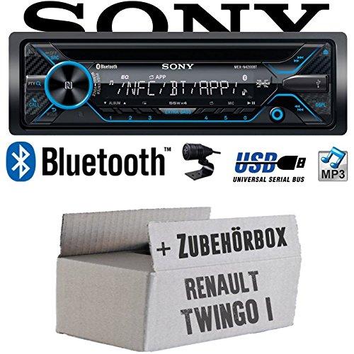 Renault Twingo 1 - Sony MEX-N4200BT | Bluetooth CD/MP3/USB Autoradio - Einbauset JUST SOUND best choice for caraudio