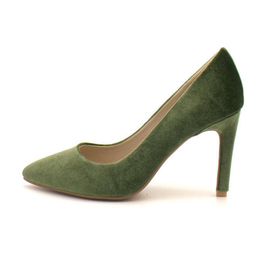 QPYC Frauen Spitz Flacher Mund Feine Ferse Einzelne Schuhe High Heels Bequeme Damen Singles Schuhe