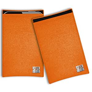 SIMON PIKE Cáscara Funda de móvil Boston 1 naranja EMPORIA CARE plus Fieltro de lana