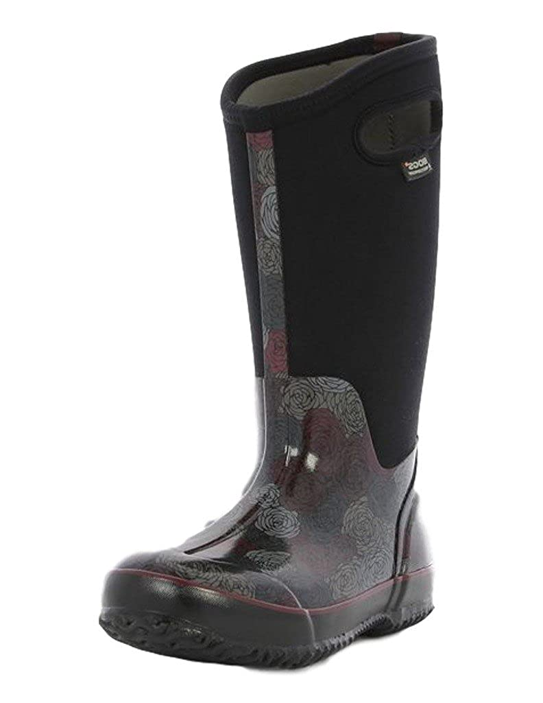 BOGS Ladies Classic Rosay Tall schwarz Multi Insulated WARM Wellington Stiefel 72032-UK 9 (EU 43)